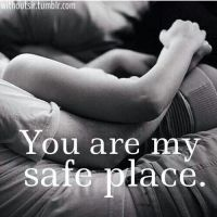 Blanketed under you is my safest place