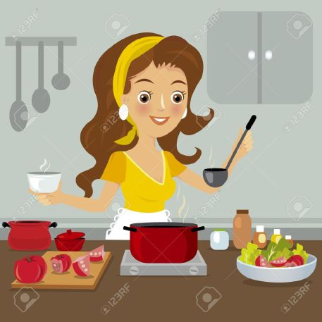 21040613-woman-in-kitchen-stock-vector-cooking-cartoon-chef