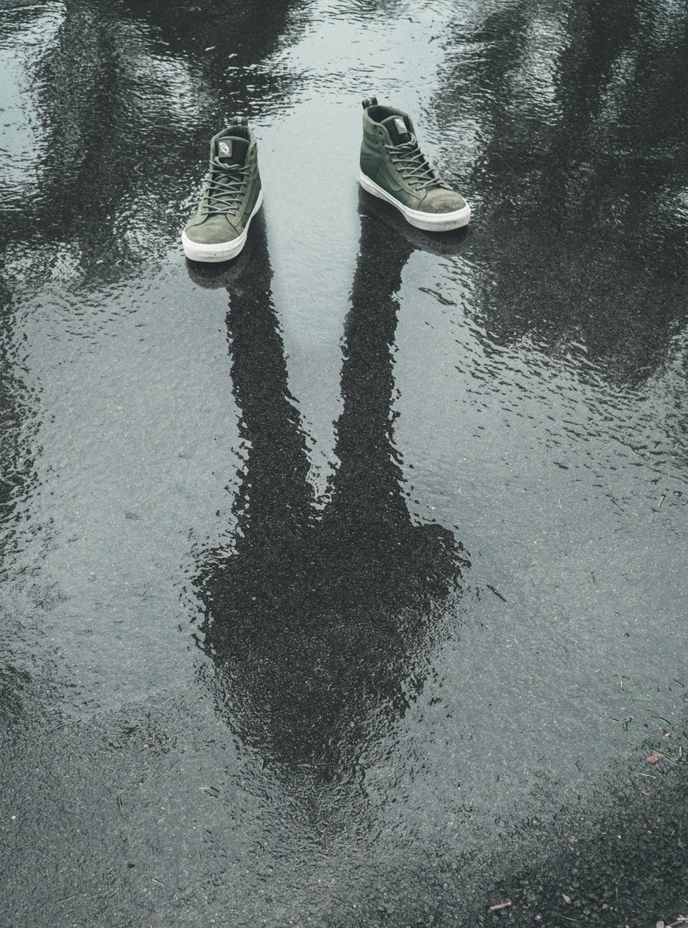 photo of gray sneakers